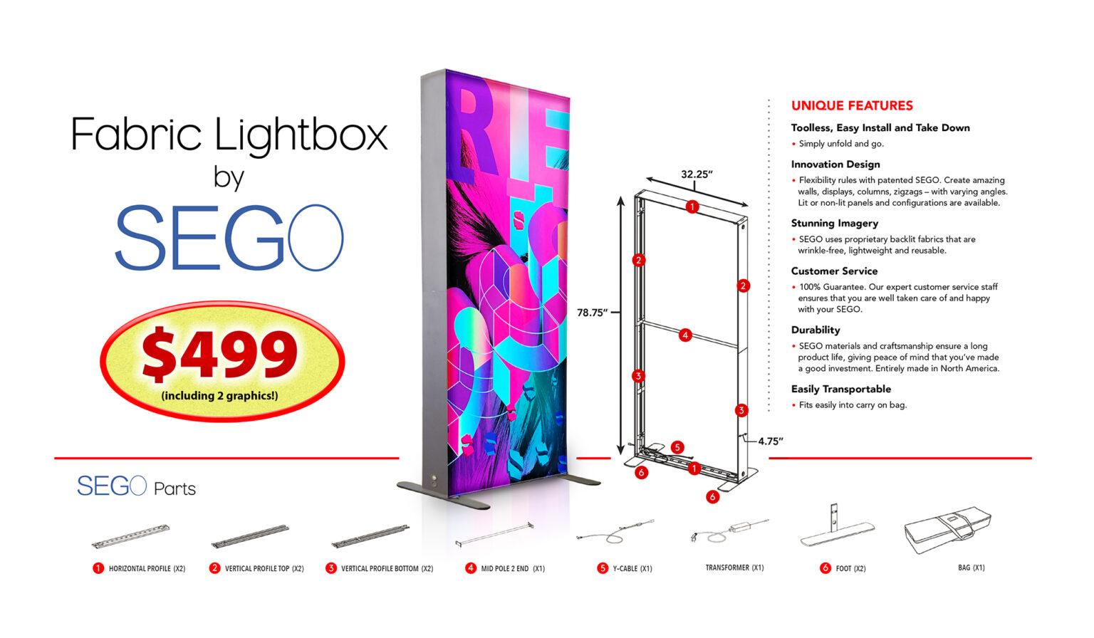 SEGO Fabric Lightbox SALE